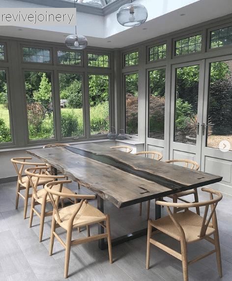 egyedi étkező asztal